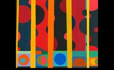 (detail) Nicholas Sistler, Composition #4 2013, gouache on board, 4 x 4 inches (