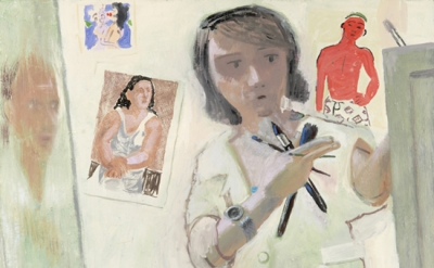 Elena Sisto, Self-Portrait (with Red Figure), 2011 (courtesy of the artist and L