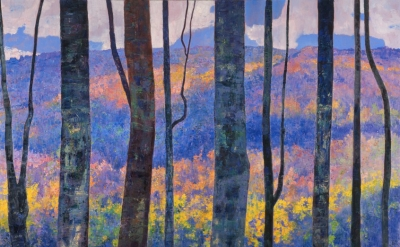 Louis Sloan, Frost Valley, 1995, oil on canvas, 54 x 70 inches