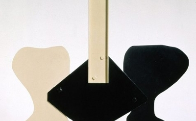 (detail) David Smith, Gondola II, 1964, painted steel, 110-1/4 x 113 x 18 inches