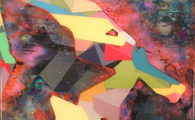 (detail) Kent Michael Smith, Anchor, 2012, acrylic, resin and spray paint on pan