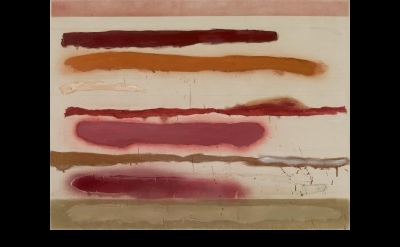 Joan Snyder, Lines And Strokes, 1969, oil, acrylic, and spray enamel on raw canv