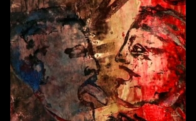 """detail of a production still from Art21's Exclusive video """"Nancy Spero: Collabor"""