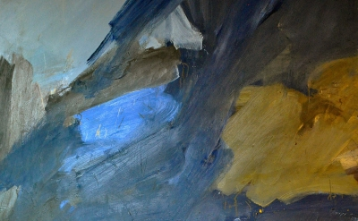 (detail) Raymond Spillenger, Untitled, oil on canvas, late 1950s (source: wikipe