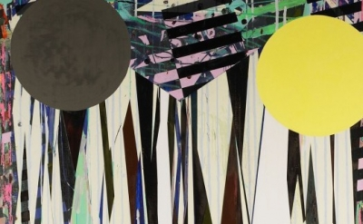 (detail) Jered Sprecher, Beyonder, 2010, oil on linen, 96 by 72 inches (courtesy