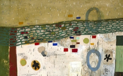 (detail) Squeak Carnwath, Beautiful Ugly, 2008, Oil and alkyd on canvas over pan