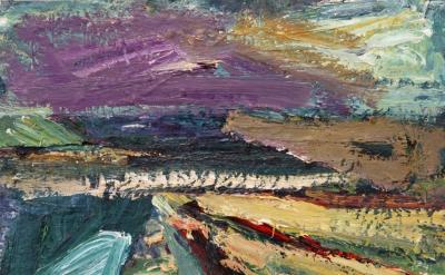 Terry St. John, Berkeley Marina, 2011, oil on canvas, 11 x 14 inches (courtesy o