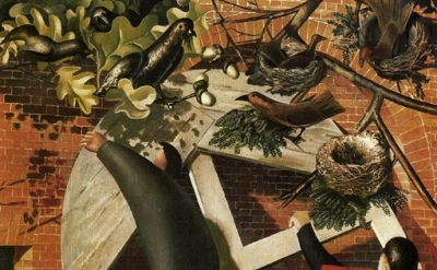 (detail) Stanley Spencer, The Builders, , 1935, oil on canvas, 111 x 91 cm, Yale