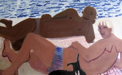 Kyle Staver, Greg and Eric, 2005, oil on linen, 58 x 70 inches (courtesy of the