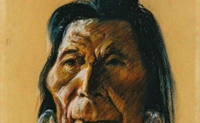 (detail) Clyfford Still, PP-241, 1936, one of Still's drawings of native peoples