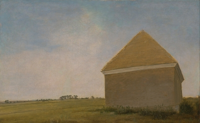 George Stubbs, Newmarket Heath, with a Rubbing Down House, ca. 1765, oil on canv