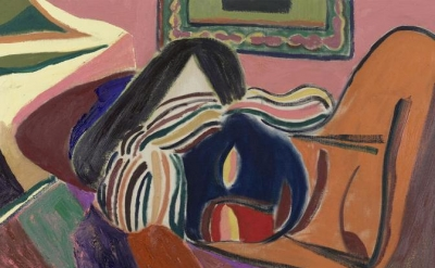 (detail) Tal R, Altstadt Girl, 2014, oil on canvas, 30 3/4 x 48 inches (courtesy