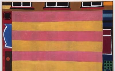 TAL R, Cabaret Closed, 2016, pigment & rabbit skin glue on canvas, 78 x 98 inches (photo: Steven Alexander)