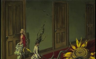 (detail) Dorothea Tanning, Eine Kleine Nachtmusik, 1943, Oil on canvas (Tate Gal