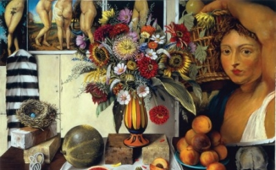 Sheldon Tapley, Harvest Table, pastel on paper, 38 × 32 inches (courtesy of the