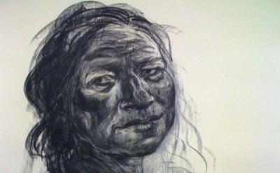 (detail) Anita Taylor, Vestiges, 2012, charcoal on paper, 210 x 156 cm (courtesy