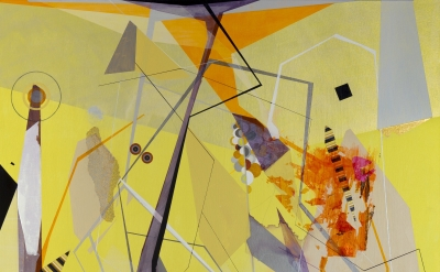 (detail) Dannielle Tegeder, Lessons in the Consolidation of Inhuman Factors, 2016, acrylic on canvas, 48 × 60 inches (courtesy of the artist)