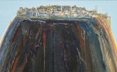 (detail) Wayne Thiebaud, Laguna Rise, 2003–12 (courtesy Paul Thiebaud Gallery)