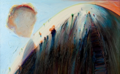 Wayne Thiebaud, White Mountain, 1995, oil on canvas, 48 x 60 inches (courtesy of Allan Stone Projects)