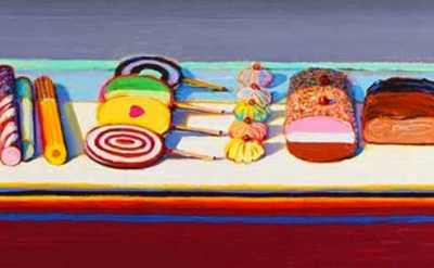 (detail) Wayne Thiebaud, Suckers and Sweets, 2000 (© Wayne Thiebaud/Licensed by