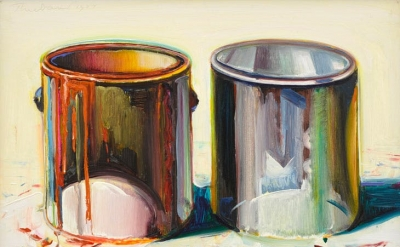 Wayne Thiebaud, Two Paint Cans, 1987 (courtesy of White Cube, © Wayne Thiebaud/DACS, London/VAGA, New York 2017)