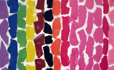 (detail) Alma Thomas, The Azaleas Sway with the Breeze, 1969, acrylic and graphi