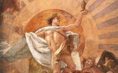 (detail) Giovanni Battista Tiepolo, Apollo and the Continents, 1752-53, Fresco S