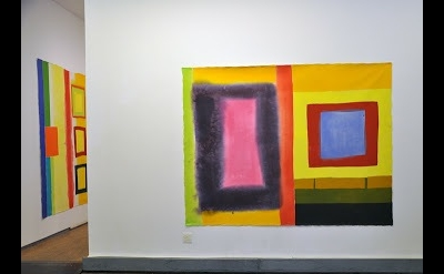 Installation view, paintings by Richard Timperio at Sideshow Gallery, Brooklyn (