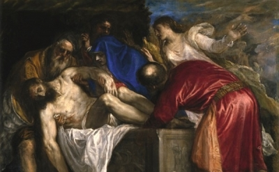 Tiziano Vecellio, Deposition of Christ in the Sepulchre, 1559, Madrid (Museo Nac