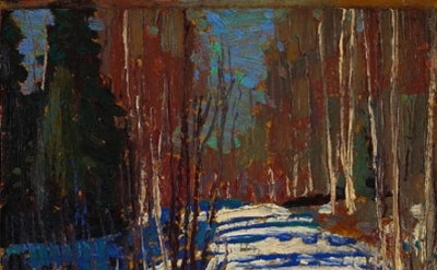 (detail) Tom Thomson, Path Behind Mowat Lodge, 1917 (Courtesy and © Art Gallery