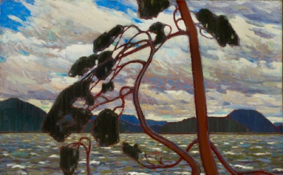 Tom Thomson. Tom Thompson, The West Wind, 1917, Oil on canvas, 120.7 x 137.2 cm