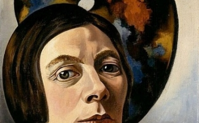 (detail) Charley Toorop, Self-Portrait with Palette, oil on canvas, 1934