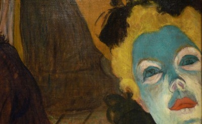 (detail) Henri de Toulouse-Lautrec, At the Moulin Rouge, 1892-1895 (collection o