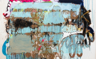 Sabine Tress, Hunted by a Freak, 2013, acrylic paint on canvas, 160 x 220cm, 63