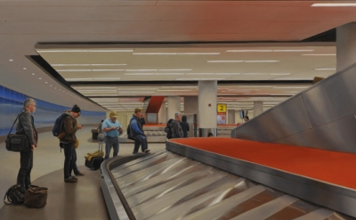 (detail) Marc Trujillo, John F Kennedy International Airport, 16 x 27 inches, oil on panel, 2015 (courtesy of the artist)