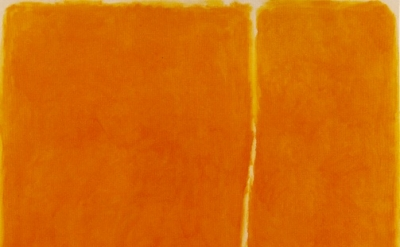 (detail) William Turnbull, 4-1963, 1963, 60 x 60, inches, oil on canvas