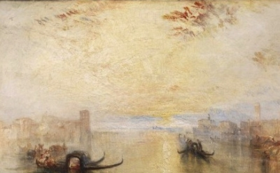 (detail) Joseph Mallord William Turner, St Benedetto looking towards Fusina, oil