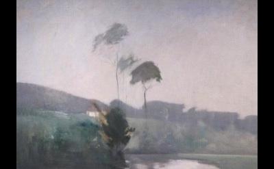 John Twachtman, Springtime, c. 1884, oil on canvas, 36 7/8 x 50 inches, Cincinna