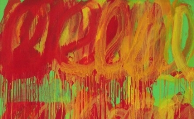 (detail) Cy Twombly, Untitled (Camino Real), 2011 (courtesy Gagosian Gallery)