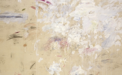 (detail) Cy Twombly, School of Fontainebleau, 1960, Öl, Wachs-, Farb- und Bleist