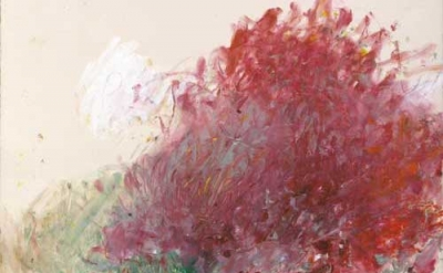(detail) Cy Twombly, Proteus, 1984, acrylic paint, color pencil, pencil on paper