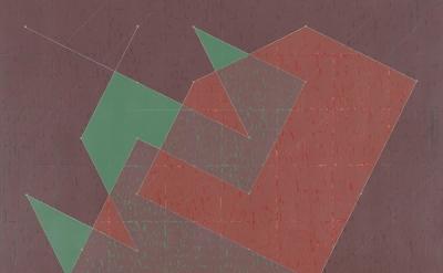 (detail) Jack Tworkov, Knight Series #8 (Q3-77 #2), 1977, oil on canvas, 90 x 72