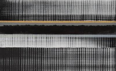 (detail) Juan Uslé, Old Baikal, 2015, Vinyl, dispersion, acrylic and dry