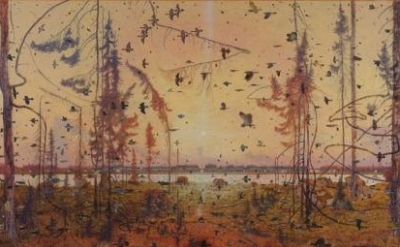 (detail) Tom Uttech, Mamakadjidgan, 2011-2012, oil on linen, 91 x 103 inches (co