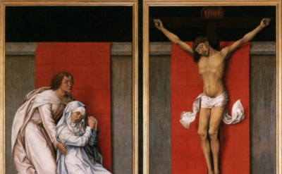 (detail) Rogeir Van der Weyden, The Crucifixion, with the Virgin and Saint John