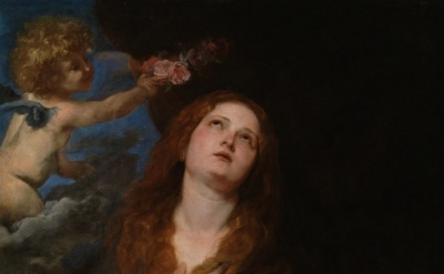 (detail) Sir Anthony Van Dyck, Saint Rosalia, c. 1625 (courtesy of Museo Naciona