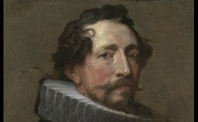 (detail) Anthony van Dyck, Portrait Study of a Man Facing Right, ca. 1634 (Priva