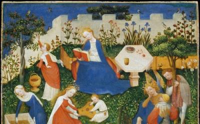 Jan van Eyck. The Little Garden of Paradise, Frankfurt am Main, Städel Museum (o