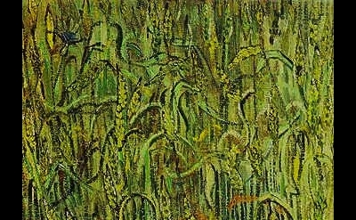 (detail) Vincent Van Gogh, Ears of Wheat, 64.5 x 48.5 cm, Van Gogh Museum, Amste