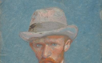 (detail) Vincent van Gogh: Self-Portrait, summer 1887 (Van Gogh Museum, Amsterda